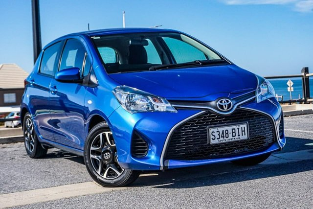 Used Toyota Yaris NCP130R Ascent Christies Beach, 2015 Toyota Yaris NCP130R Ascent Blue 4 Speed Automatic Hatchback