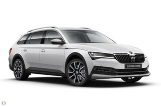 2020 Skoda Superb NP MY20.5 200TSI DSG Scout White 7 Speed Sports Automatic Dual Clutch Wagon