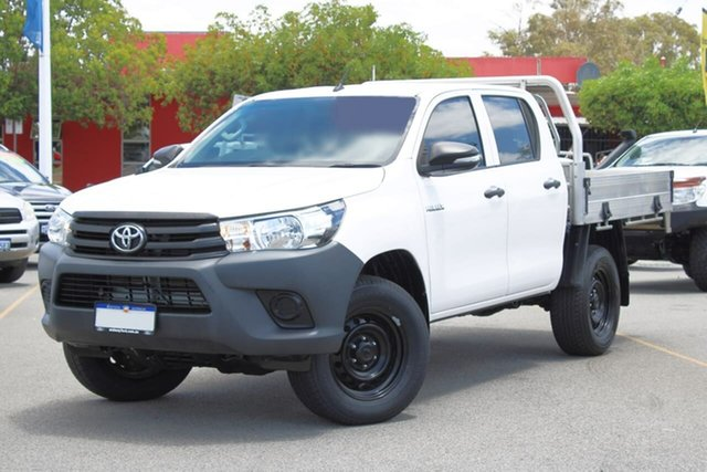 Used Toyota Hilux GUN125R Workmate Double Cab Midland, 2017 Toyota Hilux GUN125R Workmate Double Cab White 6 Speed Manual Utility