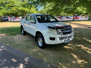 2014 Isuzu D-MAX MY14 SX Crew Cab White 5 Speed Sports Automatic Utility.