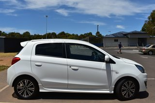 2016 Mitsubishi Mirage LA MY17 LS White 1 Speed Constant Variable Hatchback.