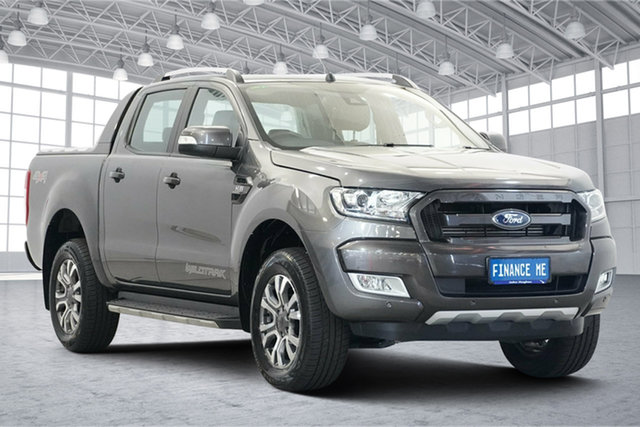 Used Ford Ranger PX MkII 2018.00MY Wildtrak Double Cab Victoria Park, 2017 Ford Ranger PX MkII 2018.00MY Wildtrak Double Cab Grey 6 Speed Sports Automatic Utility
