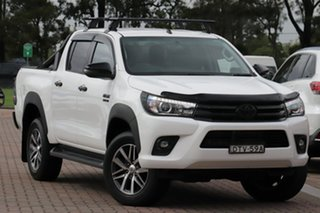 2017 Toyota Hilux GUN126R SR5 Double Cab Super White 11/cert 6 Speed Sports Automatic Utility.