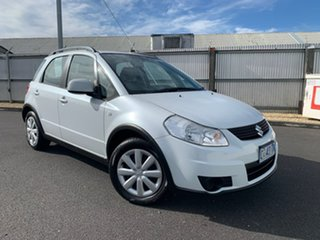 2012 Suzuki SX4 GYA MY11 S White 6 Speed Manual Hatchback.