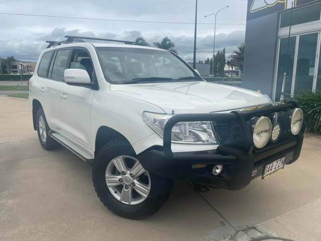 Used Toyota Landcruiser VDJ200R MY12 Altitude Townsville, 2012 Toyota Landcruiser VDJ200R MY12 Altitude White 6 Speed Sports Automatic Wagon