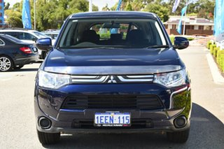 2013 Mitsubishi Outlander ZJ MY13 ES 4WD Blue 6 Speed Constant Variable Wagon