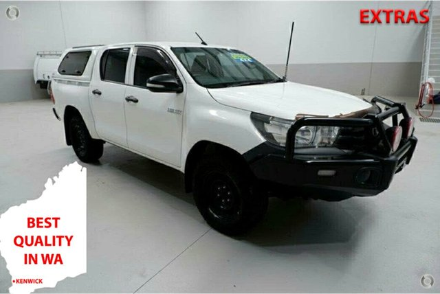 Used Toyota Hilux GUN125R Workmate Double Cab Kenwick, 2015 Toyota Hilux GUN125R Workmate Double Cab White 6 Speed Sports Automatic Utility