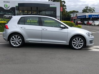 2013 Volkswagen Golf VII 110TDI DSG Highline Silver 6 Speed Sports Automatic Dual Clutch Hatchback.