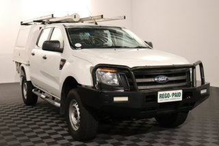 2013 Ford Ranger PX XL Hi-Rider Cool White 6 speed Automatic Cab Chassis.
