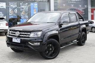 2017 Volkswagen Amarok 2H MY17 TDI550 4MOTION Perm Highline Black 8 Speed Automatic Utility.