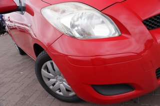2009 Toyota Yaris NCP90R MY09 YR Red 4 Speed Automatic Hatchback.
