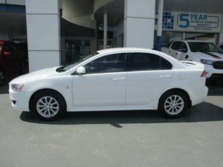 2010 Mitsubishi Lancer CJ MY10 Activ White 6 Speed CVT Auto Sequential Sedan.