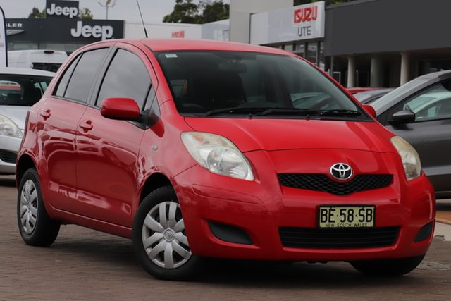 Pre-Owned Toyota Yaris NCP90R MY09 YR Warwick Farm, 2009 Toyota Yaris NCP90R MY09 YR Red 4 Speed Automatic Hatchback