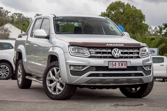 Used Volkswagen Amarok 2H MY17 TDI550 4MOTION Perm Ultimate Gympie, 2017 Volkswagen Amarok 2H MY17 TDI550 4MOTION Perm Ultimate Silver 8 Speed Automatic Utility