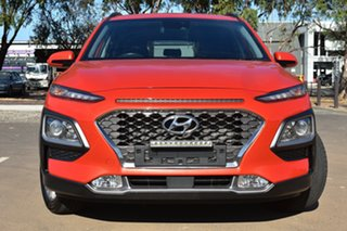 2017 Hyundai Kona OS MY18 Elite 2WD Orange 6 Speed Sports Automatic Wagon.