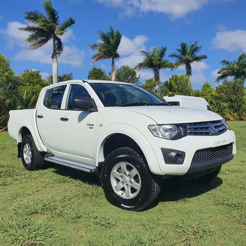 Used Mitsubishi Triton MN MY12 GLX Double Cab Alberton, 2012 Mitsubishi Triton MN MY12 GLX Double Cab White 5 Speed Manual Utility