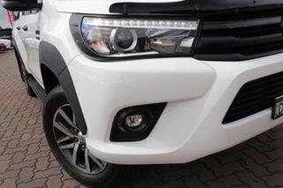 2017 Toyota Hilux GUN126R SR5 Double Cab Super White 11/cert 6 Speed Sports Automatic Utility.