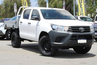 2017 Toyota Hilux GUN125R Workmate Double Cab White 6 Speed Manual Utility.