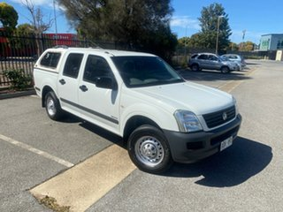 2005 Holden Rodeo RA MY05 LX Crew Cab 4x2 White 5 Speed Manual Utility.
