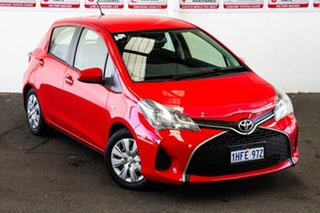 2014 Toyota Yaris NCP130R Ascent Cherry 4 Speed Automatic Hatchback.