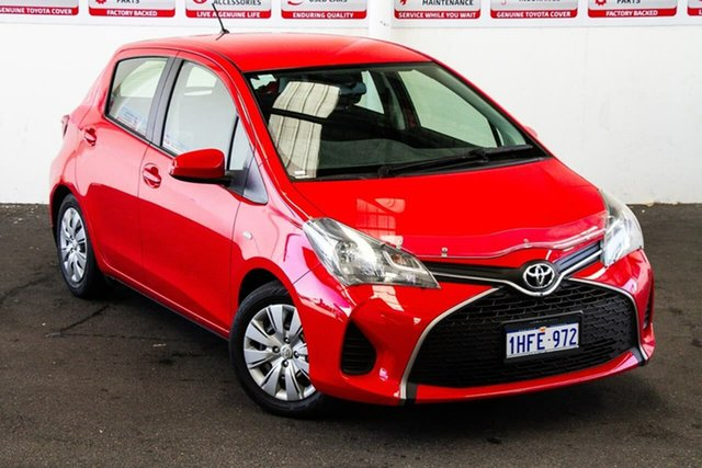 Pre-Owned Toyota Yaris NCP130R Ascent Myaree, 2014 Toyota Yaris NCP130R Ascent Cherry 4 Speed Automatic Hatchback