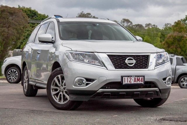 Used Nissan Pathfinder R52 MY15 ST-L X-tronic 2WD Gympie, 2015 Nissan Pathfinder R52 MY15 ST-L X-tronic 2WD Silver 1 Speed Constant Variable Wagon