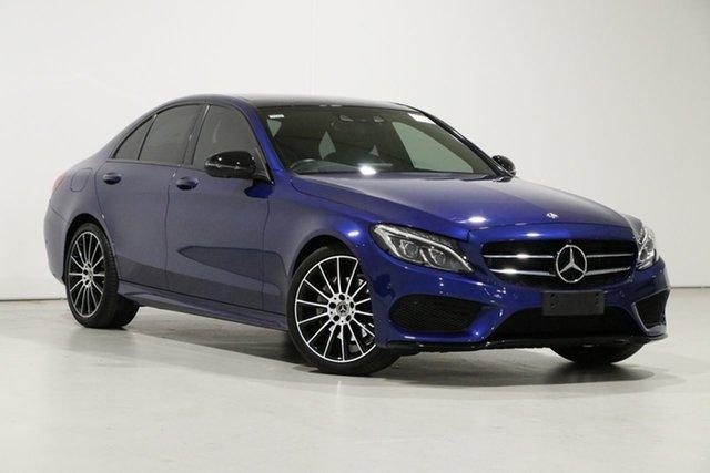Used Mercedes-Benz C200 205 MY17.5 Bentley, 2017 Mercedes-Benz C200 205 MY17.5 Blue 9 Speed Automatic G-Tronic Sedan