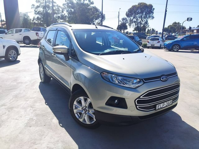 Used Ford Ecosport BK Trend PwrShift Liverpool, 2016 Ford Ecosport BK Trend PwrShift Gold 6 Speed Sports Automatic Dual Clutch Wagon