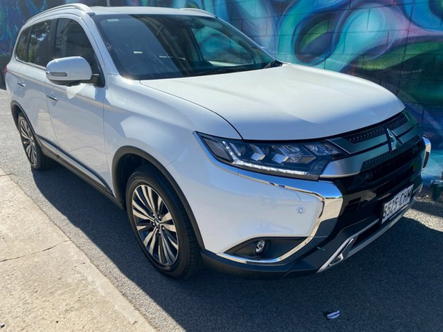 Demo Mitsubishi Outlander ZL MY21 Exceed AWD Wayville, 2020 Mitsubishi Outlander ZL MY21 Exceed AWD White 6 Speed Constant Variable Wagon