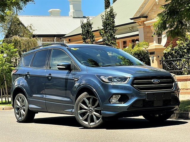 Used Ford Escape ZG 2019.25MY ST-Line Hyde Park, 2019 Ford Escape ZG 2019.25MY ST-Line Blue 6 Speed Sports Automatic SUV