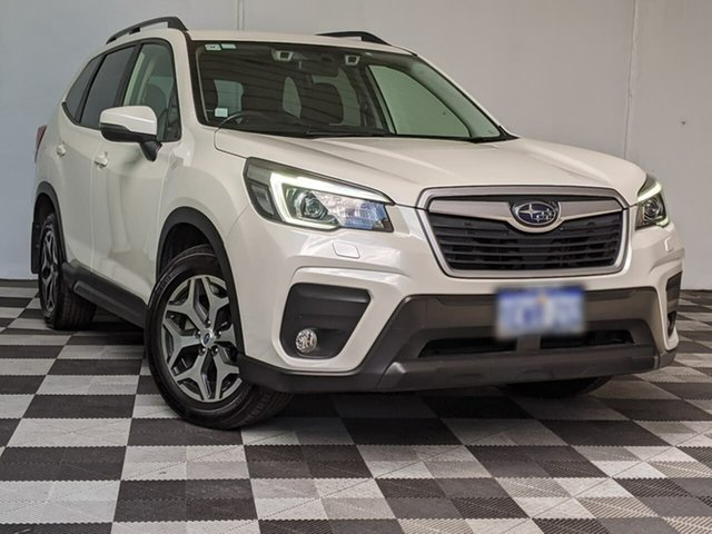 Used Subaru Forester S5 MY19 2.5i CVT AWD Victoria Park, 2018 Subaru Forester S5 MY19 2.5i CVT AWD White 7 Speed Constant Variable Wagon