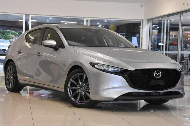 New Mazda 3 BP2H7A G20 SKYACTIV-Drive Evolve Waitara, 2020 Mazda 3 BP2H7A G20 SKYACTIV-Drive Evolve Silver 6 Speed Sports Automatic Hatchback