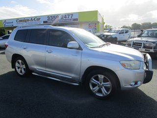 2009 Toyota Kluger GSU40R Grande 2WD Silver 5 Speed Sports Automatic Wagon