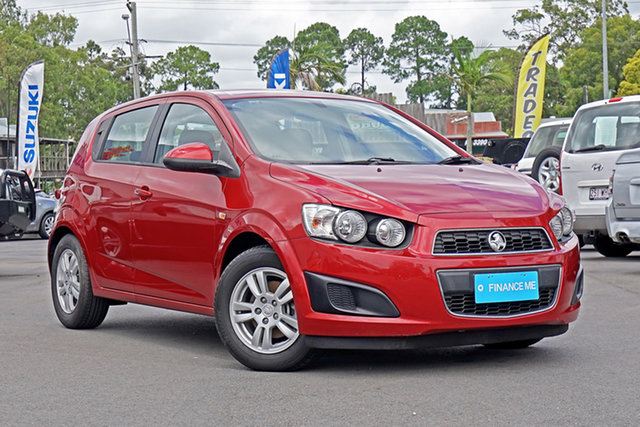 Used Holden Barina TM Chandler, 2012 Holden Barina TM Red 6 Speed Automatic Hatchback