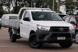 2017 Toyota Hilux TGN121R Workmate 4x2 White/cert 6 Speed Sports Automatic Cab Chassis.