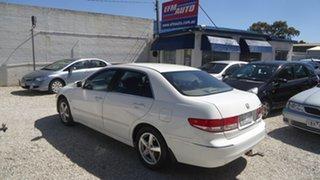 2003 Honda Accord 7th Gen VTi White 5 Speed Automatic Sedan.