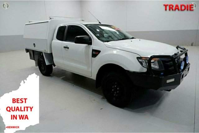 Used Ford Ranger PX XL Kenwick, 2014 Ford Ranger PX XL White 6 Speed Manual Cab Chassis