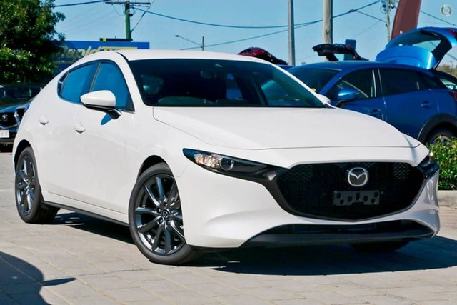 New Mazda 3 BP2H7A G20 SKYACTIV-Drive Evolve Waitara, 2020 Mazda 3 BP2H7A G20 SKYACTIV-Drive Evolve White 6 Speed Sports Automatic Hatchback