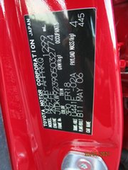 2006 Toyota Yaris NCP90R YR Red 4 Speed Automatic Hatchback