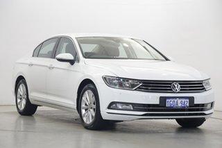 2018 Volkswagen Passat 3C (B8) MY18 132TSI DSG Comfortline Pure White 7 Speed