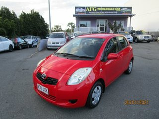 2006 Toyota Yaris NCP90R YR Red 4 Speed Automatic Hatchback.