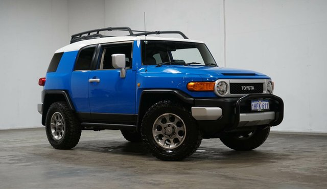 Used Toyota FJ Cruiser GSJ15R Welshpool, 2012 Toyota FJ Cruiser GSJ15R Blue 5 Speed Automatic Wagon