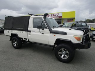 2007 Toyota Landcruiser VDJ79R Workmate White 5 Speed Manual Cab Chassis.