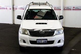 2013 Toyota Hilux KUN26R MY12 SR Xtra Cab Glacier White 5 Speed Manual Utility.