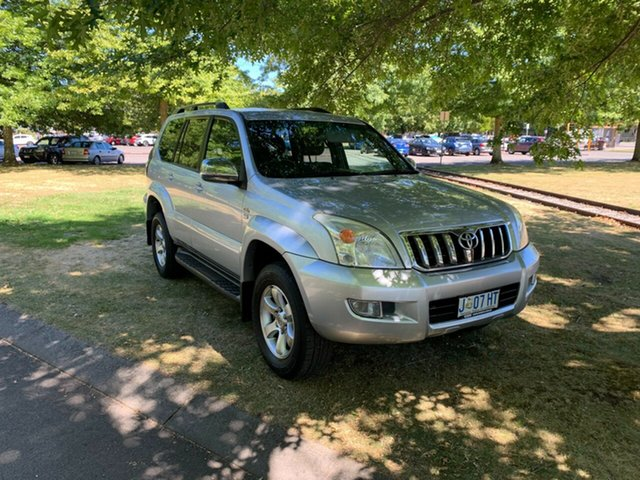 Used Toyota Landcruiser Prado KDJ120R GX Launceston, 2009 Toyota Landcruiser Prado KDJ120R GX Silver 5 Speed Automatic Wagon