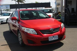 2008 Toyota Corolla ZRE152R Ascent Red 4 Speed Automatic Sedan.