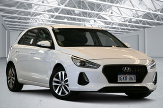 2017 Hyundai i30 PD Active Polar White 6 Speed Auto Sequential Hatchback.