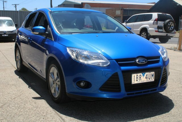 Used Ford Focus LW MK2 MY14 Trend West Footscray, 2014 Ford Focus LW MK2 MY14 Trend Blue 6 Speed Automatic Hatchback