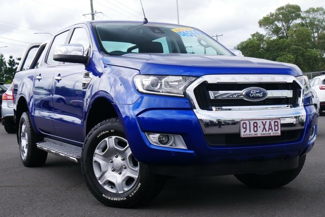 Used Ford Ranger PX MkII XLT Double Cab Hillcrest, 2016 Ford Ranger PX MkII XLT Double Cab Blue 6 Speed Sports Automatic Utility