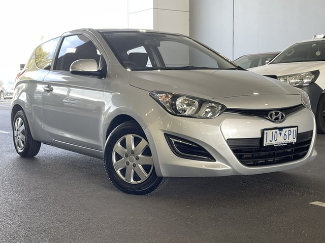 Pre-Owned Hyundai i20 PB MY13 Active South Morang, 2013 Hyundai i20 PB MY13 Active Silver, Chrome 4 Speed Automatic Hatchback